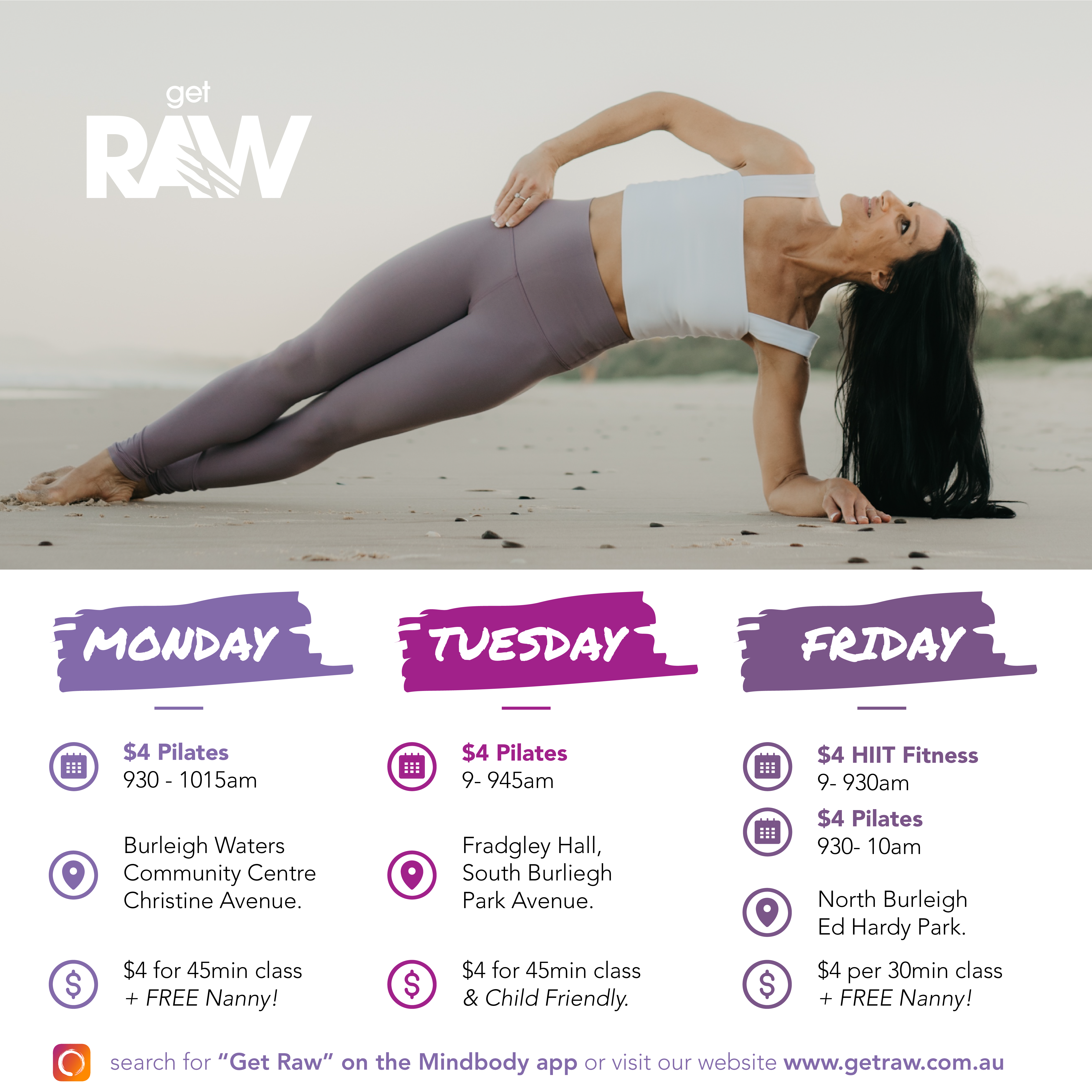 Get Raw JULY Timetable Post Square